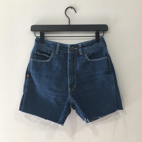 Vintage Pants - Vintage Bonjour Denim Cut-off Mom Shorts
